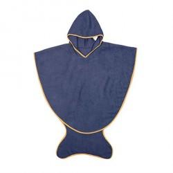 Håndklæde med hætte Marineblå - Flere størrelser
