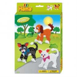 Hama Midi Hund og Kat gaveæske