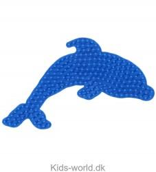 Hama Midi Perleplade - Blå Delfin