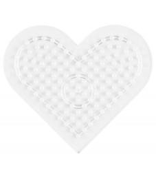 Hama Midi Perleplade - Lille Hjerte - Transparent