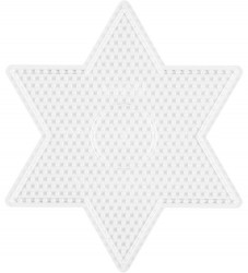 Hama Midi Perleplade - Stor Stjerne - Transparent