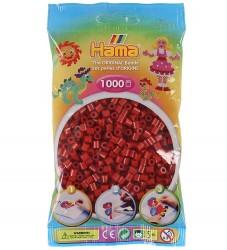 Hama Midi Perler - 1000 stk - Mørk Rød