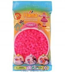 Hama Midi perler - 1000 stk - Transparent Neon Pink
