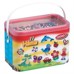 Hama Midi perler 10000 stk - 10 farver