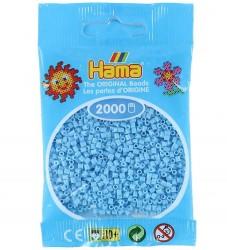 Hama Mini Perler - 2000 stk - Pastel Blå