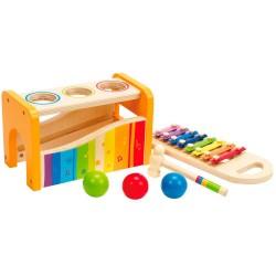 Hape musikbænk med xylofon og hammer