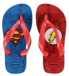 Havaianas Klipklapper - DC Herois - Rød m. Superman/The Flash