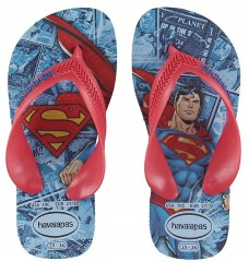 Havaianas Klipklapper - Kids Max Heroes - Blue Star m. Superman