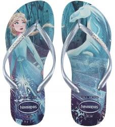 Havaianas Klipklapper - Kids Slim Frozen - Hvid/Blå