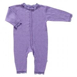 Heldragt fra Joha - Uld/silke - Blondekant og hulmønster - Lavendel