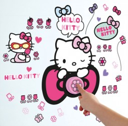 Hello Kitty Wallstickers Ringeklokke