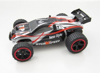 High Speed Fjernstyret Truggy 1:18 2.4G, Sort/Rød
