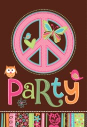 Hippie - Invitationer & kuvert - 8 stk.