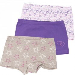 Hipsters fra CeLaVi - Purple Hearts and Stars (3 par)