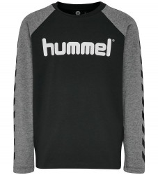Hummel Bluse - Boys - Sort/Mørk Gråmeleret