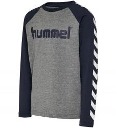 Hummel Bluse - HMLBoys - Mørk Gråmeleret/Navy