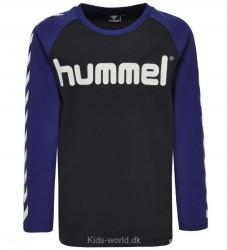Hummel Bluse - Lukas - Sort m. Vinkler