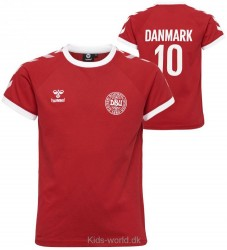 Hummel T-shirt - DBU - Rød m. Vinkler