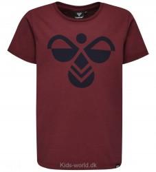 Hummel T-shirt - Glenn - Vinrød m. Logo