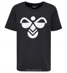 Hummel T-shirt - Palm - Sort m. Hvidt Logo