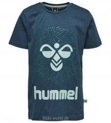 Hummel T-shirt - Robin - Navy m. Mint/Logo