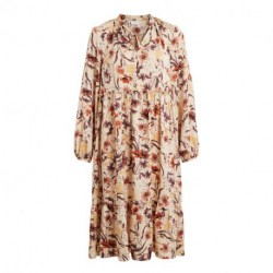 Humus/Flowers VIWAMER MEDI DRESS 14064989 fra Vila