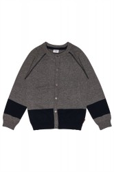 Hust & Claire kids cardigan - wool grey