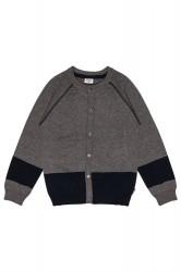 Hust & Claire kids cardigan - wool grey