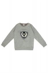 Hust & Claire kids sweatshirt light grey melange