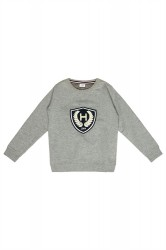 Hust & Claire kids sweatshirt light grey melange