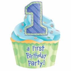 Invitation - Stor - 1 års fødselsdag - 1st Birthday Boy