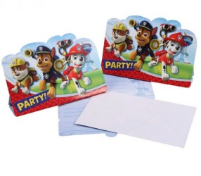 Invitationer - Paw Patrol (8 stk)