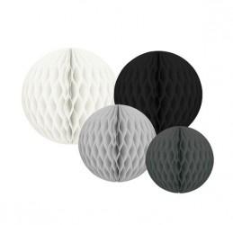 JaBaDaBaDo Honeycombs - Sort/Hvid