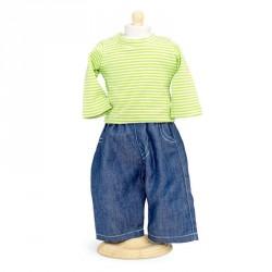 Jeans og bluse - dukketøj