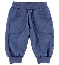 Joha Bomuldsbukser - Blåmeleret