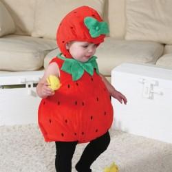 Jordbær Kostume Baby Udklædning str. 6 - 12 mdr. Travis Designs
