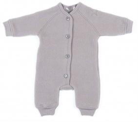jumpsuit fra Smallstuff i merino uld med knapper - Støvet lilla