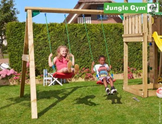 Jungle Gym Swing Module Xtra - Komplet Samlesæt inkl. træ