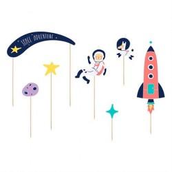 Kagepynt til børnefødselsdag Space Party