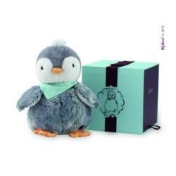 Kaloo Pingvin, 25 cm. - Grå