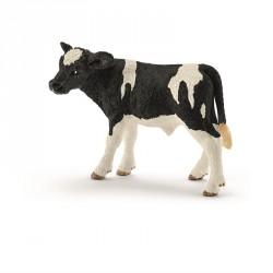 Kalv fra Schleich - Sortbroget - Holstein