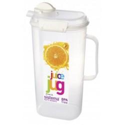 Kande til vand eller juice fra Sistema Klip It på 2 liter - Hvid accent