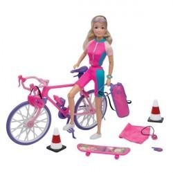 Kari Michell dukke på cykelferie