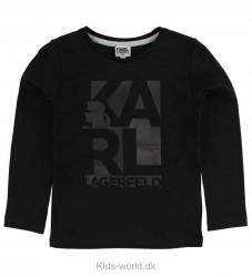 Karl Lagerfeld Bluse - Sort m. Print