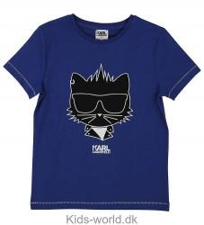 Karl Lagerfeld T-shirt - Blå m. Kat