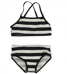 Katvig Classics Bikini - UV30 - Sort/Hvidstribet