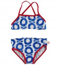 Katvig Classics Bikini - UV50 - Hvid/Rød m. Blå Æbler