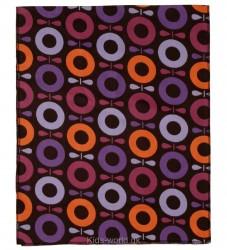 Katvig Classics Sengetøj - Baby - Brun m. Pink/Orange Æbler