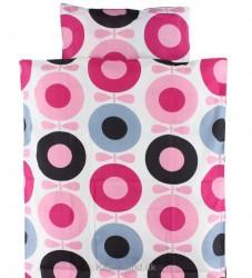Katvig Classics Sengetøj - Baby - Hvid m. Lyserød/Pink Æbler