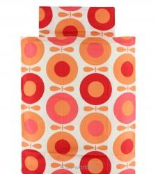 Katvig Classics Sengetøj - Baby - Hvid m. Orange Æbler